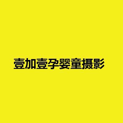 壹加壹孕婴童摄影(壹加壹孕妇摄影会馆)